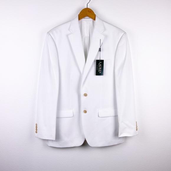NEW Lauren Ralph Lauren White 2-button Blazer